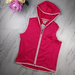 Nike Gold Pink Hooded Vest SZM NWT